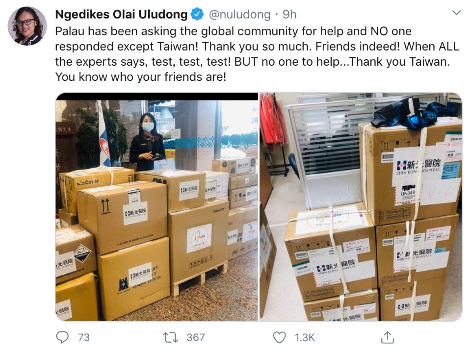 慘遭全球已讀不回 帛琉大使直呼「只有台灣願意幫忙」