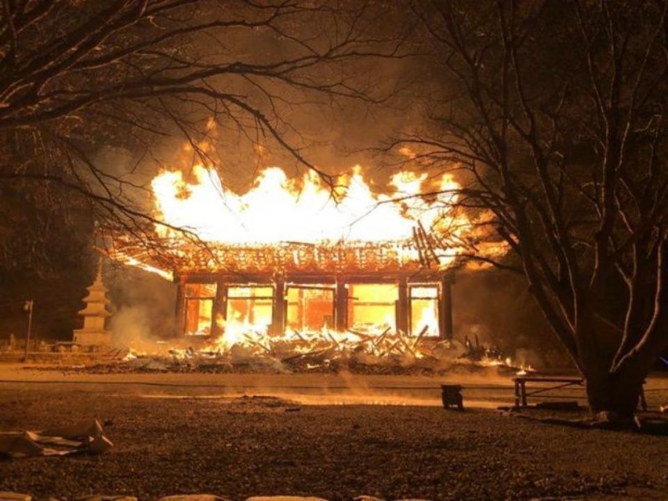 火大!南韓僧侶燒了千年古寺