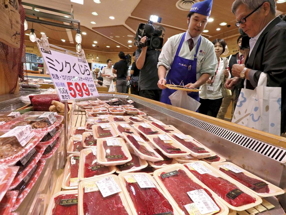 日本恢復商業捕鯨 阪急百貨銷售首批鯨肉