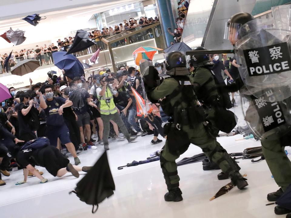 反送中「沙田大衝突」北京拒絕香港特首請辭