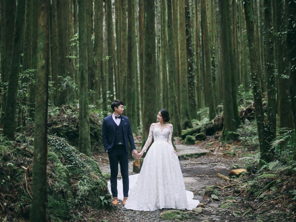 千年神木見證愛情!阿里山2天1夜森林婚禮