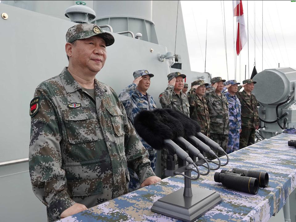 共軍預告軍演陸官媒5大軍種聯合 陸官媒曝有針對性