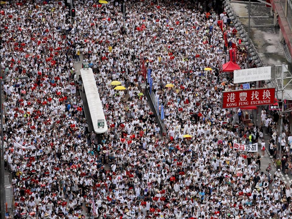 香港百萬人反送中遊行 美國務院嚴正關切