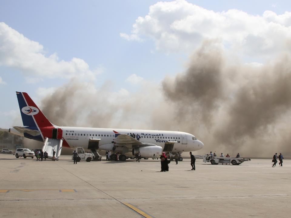恐怖!葉門機場爆炸16死60傷