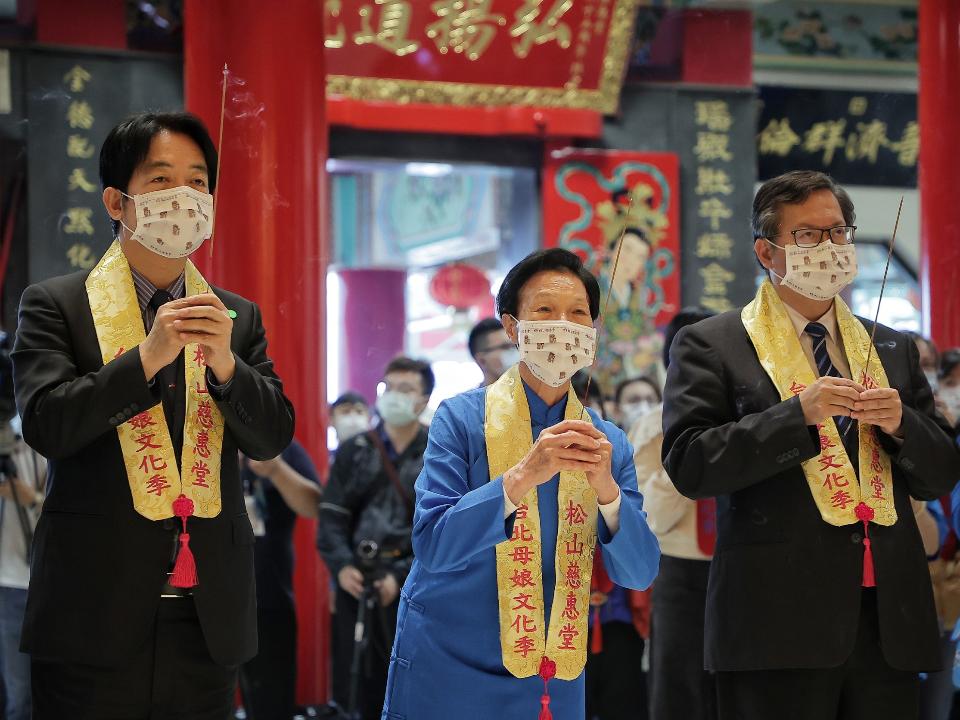 台北母娘文化季米龍開光儀式 賴清德鄭文燦同台祈雨求甘霖