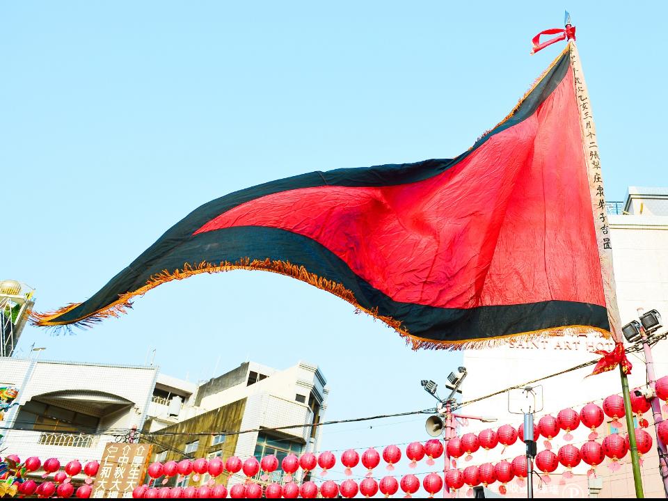 彰化南瑤宮升86年歷史雨帆旗  信徒說有飄毛毛雨感覺
